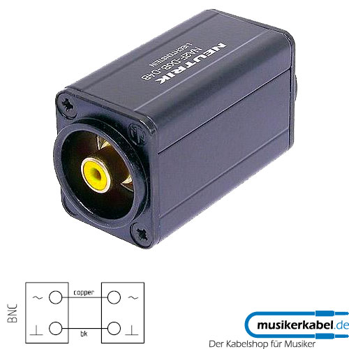 Neutrik NA2BBNC-D4B Neutrik Adapter D-Form BNC-Buchse, Cinch-Buchse gelb