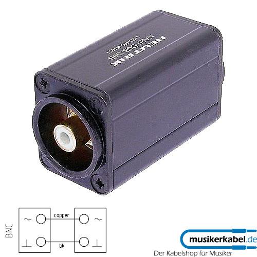 Neutrik NA2BBNC-D9B Neutrik Adapter D-Form BNC-Buchse, Cinch-Buchse weiß