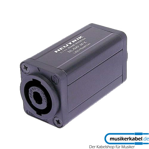 Neutrik NA4MP-M-X Neutrik Adapter D-Form Speakon PhaseInvers-Adapter
