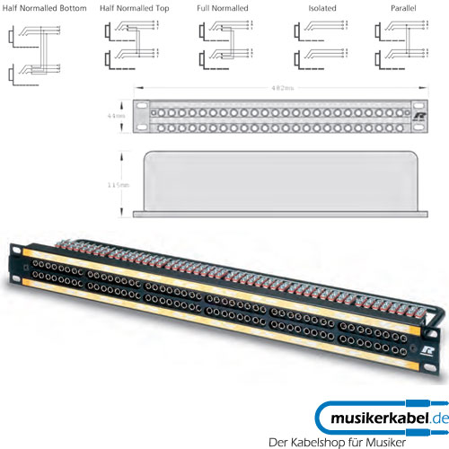 Neutrik MA96-1S Neutrik Patchpanel Bantam 12x 8 silber