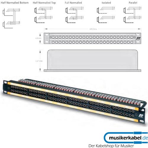 Neutrik MA96-1D Neutrik Patchpanel Bantam 12x 8 blau