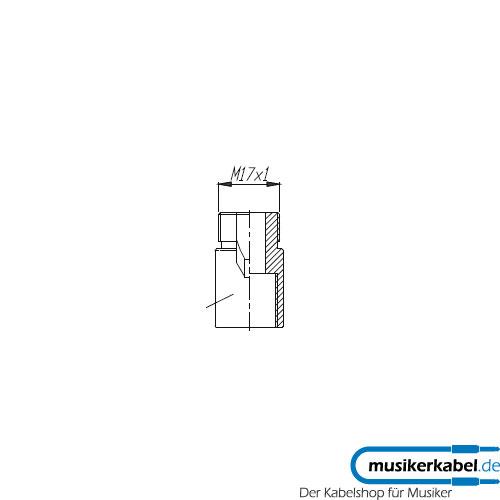 Neutrik NAM4 Neutrik Schwanenhals Adapter M17x1 außen 5/8