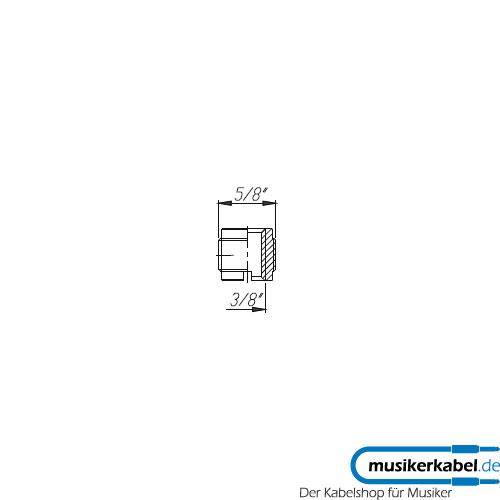 Neutrik NAM5 Neutrik Schwanenhals Adapter 3/8