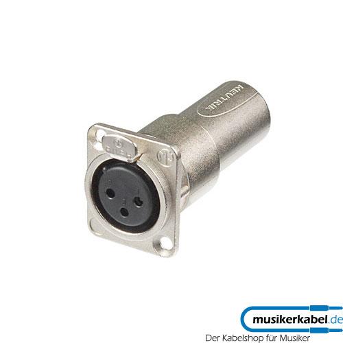 Neutrik NA3FDM Neutrik Panel-Adapter XLR 3pol female Buchse, male Stecker