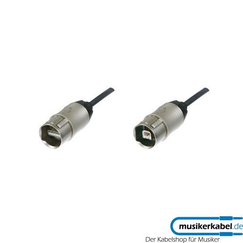 Neutrik NKUSB-1 Neutrik USB-Kabel IP65 2.0 480MBit/s 1m