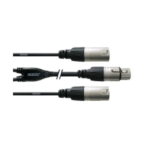 Cordial CFY 0,3 FMM Cordial Fair Line Y-Adapter XLR female an 2x XLR male