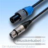 Musikerkabel.de R000172 Speakonstecker 2pol an XLR-Stecker 3pol fem. Neutrik 25cm 2,5qmm