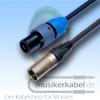 Musikerkabel.de R000173 Speakonstecker 2pol an XLR-Stecker 3pol male Neutrik 25cm 2,5qmm