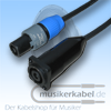 Musikerkabel.de R000200 Speakonstecker 2pol an Speakonbuchse 4pol 1+/1- 50cm