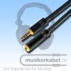 Musikerkabel.de R000205 Klinke 3,5mm stereo an Klinkenkupplung 3,5mm stereo Neutrik 2,5m