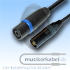 Musikerkabel.de R000237 XLR-Stecker 3pol. male, Speakonstecker female, 25cm, 2,5qmm