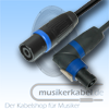 Musikerkabel.de R000239 Speakonstecker fem. gew. an Speakonstecker male 4x 4qmm 25cm