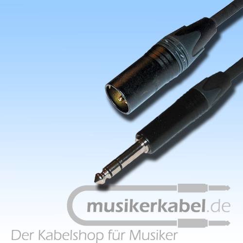 Musikerkabel.de R000265 Adapter Klinke 6,3mm stereo, XLR 3pol male, 25cm