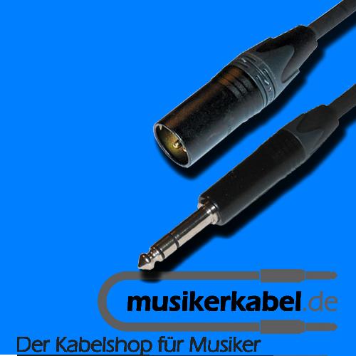 Musikerkabel.de R000265 Adapter Klinke 6,3mm stereo, XLR 3pol male, 25cm