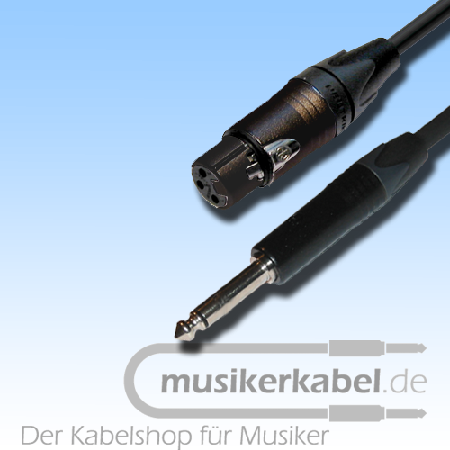 Musikerkabel.de R000266 Adapter Klinke 6,3mm mono, XLR 3pol female, 25cm