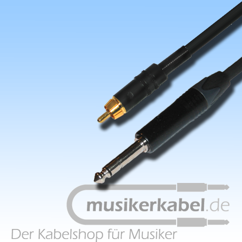 Musikerkabel.de R000268 Adapter Cinch, Klinke 6,3mm mono, 25cm