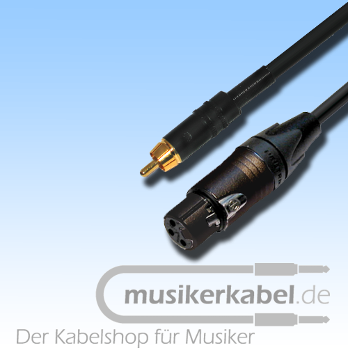 Musikerkabel.de R000269 Adapter Cinch, XLR 3pol female, 25cm