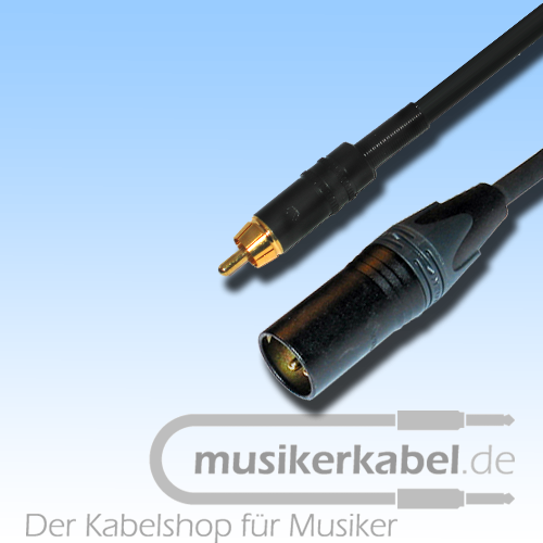Musikerkabel.de R000270 Adapter Cinch, XLR 3pol male, 25cm
