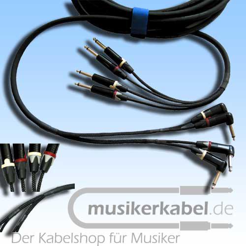 Musikerkabel.de R000325 Keyboard-Loom 2x2 Klinke 6,3mm mono, 7,5m