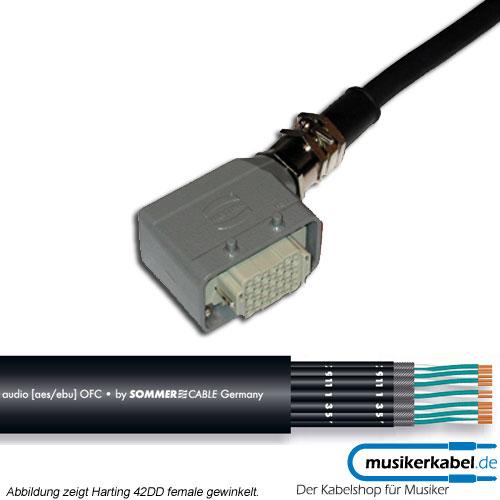 Musikerkabel.de R000566 24 Kanal Multicore, Harting 72DD male, gewinkelt, offenes Ende, SC-QMC 25m