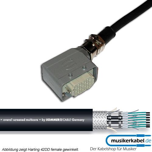 Musikerkabel.de R000602 24 Kanal Multicore, Harting 72DD male, gewinkelt, offenes Ende, SC-Transfer 5m