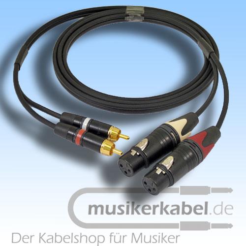 Musikerkabel.de R000958 Stereokabel 2x Cinch - 2x XLR female 1,0m