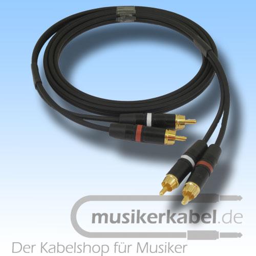 Musikerkabel.de R000962 Stereokabel 2x Cinch - 2x Cinch 0,5m
